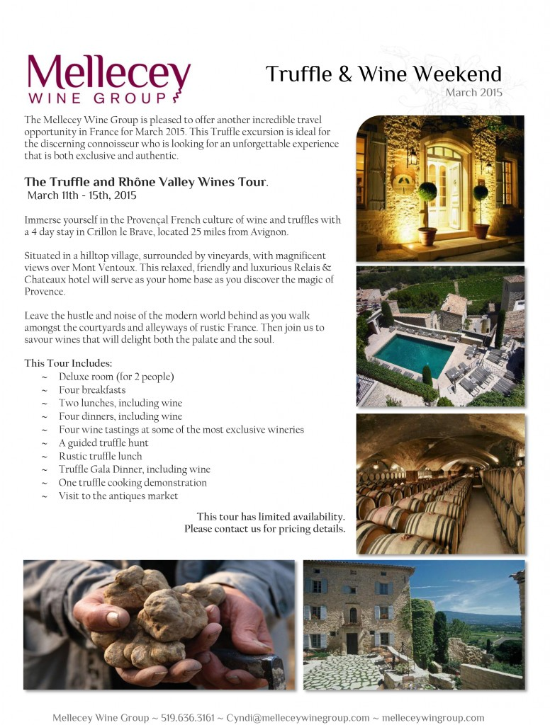 Truffle and Wine Weekend March 2015